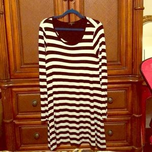 Swing dress in Kate Spade striped style!